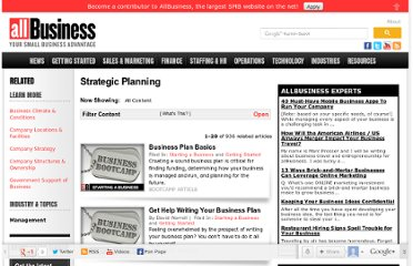 http://www.allbusiness.com/strategic-planning/4973857-1.html#axzz1vOzdmnOq