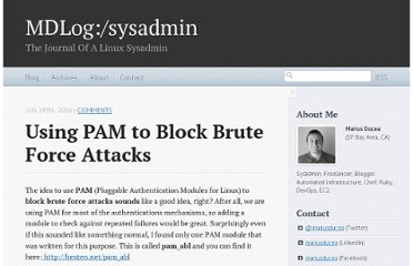 http://www.ducea.com/2006/06/29/using-pam-to-block-brute-force-attacks/