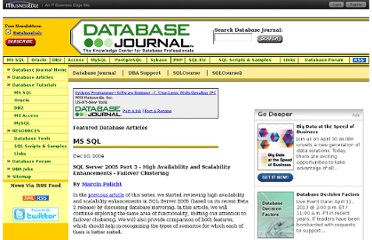 http://www.databasejournal.com/features/mssql/article.php/3444181/SQL-Server-2005-Part-3---High-Availability-and-Scalability-Enhancements---Failover-Clustering.htm