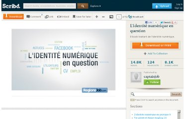 http://fr.scribd.com/doc/14983641/Lidentite-numerique-en-question