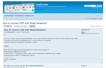http://www.lispforum.com/viewtopic.php?f=2&t=256