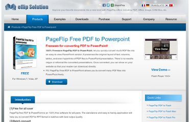 http://www.pageflippdf.com/pageflip-free-pdf-to-powerpoint/index.html