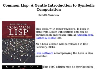 http://www.cs.cmu.edu/~dst/LispBook/index.html