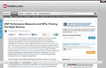 http://it.toolbox.com/blogs/erp-roi/erp-performance-measures-and-kpis-finding-the-right-balance-8207