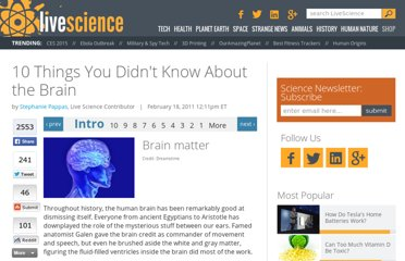 http://www.livescience.com/12916-10-facts-human-brain.html