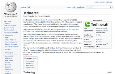 http://en.wikipedia.org/wiki/Technorati