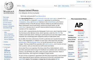 http://en.wikipedia.org/wiki/Associated_Press