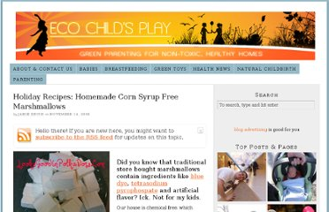 http://ecochildsplay.com/2008/11/14/holiday-recipes-homemade-corn-syrup-free-marshmallows/
