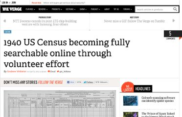 http://www.theverge.com/2012/4/2/2919930/nara-1940-us-census-searchable-database