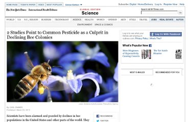 http://www.nytimes.com/2012/03/30/science/neocotinoid-pesticides-play-a-role-in-bees-decline-2-studies-find.html?_r=1