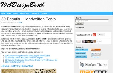 http://www.webdesignbooth.com/30-beautiful-handwritten-fonts/