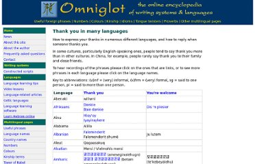 http://www.omniglot.com/language/phrases/thankyou.htm
