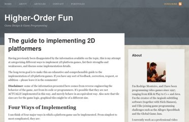 http://higherorderfun.com/blog/2012/05/20/the-guide-to-implementing-2d-platformers/