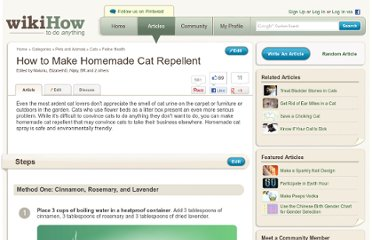 http://www.wikihow.com/Make-Homemade-Cat-Repellent