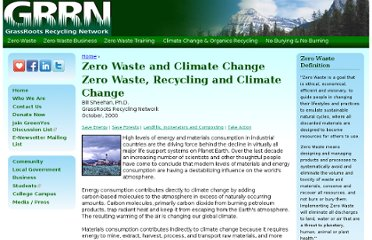 http://www.grrn.org/page/zero-waste-and-climate-change