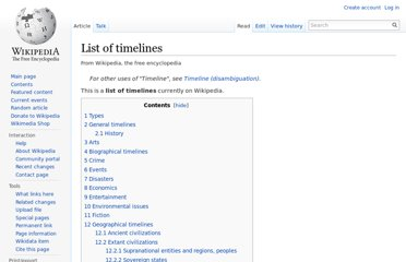 http://en.wikipedia.org/wiki/List_of_timelines