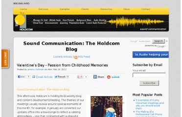 http://soundcommunication.holdcom.com/bid/56720/Valentine-s-Day-Passion-from-Childhood-Memories
