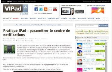 http://www.vipad.fr/post/Pratique-iPad-centre-de-notifications