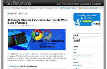http://sixrevisions.com/tools/chrome-extensions-developers-designers/