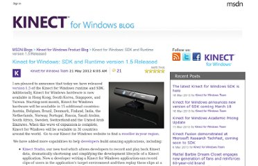 http://blogs.msdn.com/b/kinectforwindows/archive/2012/05/21/kinect-for-windows-runtime-and-sdk-version-1-5-released.aspx