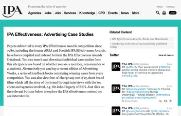 http://www.ipa.co.uk/Page/IPA-Effectiveness-Advertising-Case-Studies