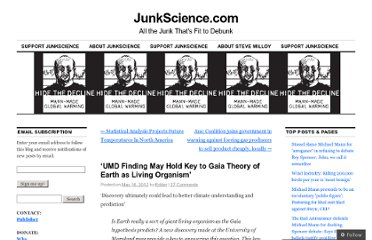 http://junkscience.com/2012/05/16/umd-finding-may-hold-key-to-gaia-theory-of-earth-as-living-organism/