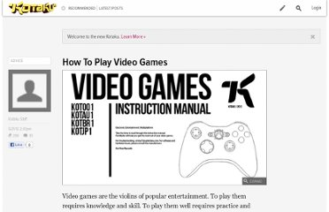 http://kotaku.com/5911869/how-to-play-video-games