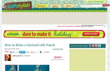 http://www.craftstylish.com/item/25718/how-to-make-a-garland-with-punch