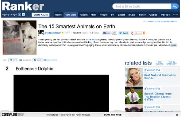 http://www.ranker.com/list/the-15-smartest-animals-on-earth/analise.dubner?page=2
