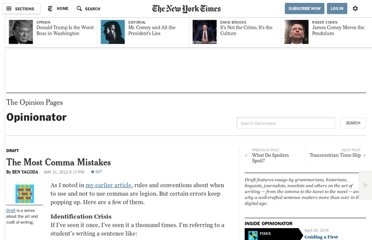 http://opinionator.blogs.nytimes.com/2012/05/21/the-most-comma-mistakes/