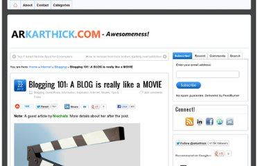 http://arkarthick.com/2012/05/22/blogging-101-blog-is-like-movie/