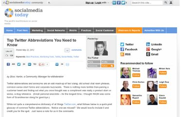 http://socialmediatoday.com/emoderation/512987/top-twitter-abbreviations-you-need-know