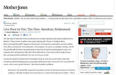http://www.motherjones.com/mojo/2010/10/live-poor-or-die-new-american-retirement