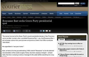 http://www.courierpress.com/news/2012/may/21/roseanne-barr-seeks-green-party-presidential-spot/