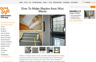 http://www.apartmenttherapy.com/how-to-make-shades-from-mini-b-88918