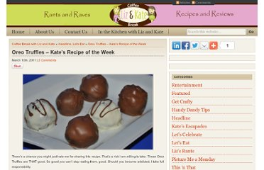 http://www.coffeebreakwithlizandkate.com/oreo-truffles-kates-recipe-of-the-week
