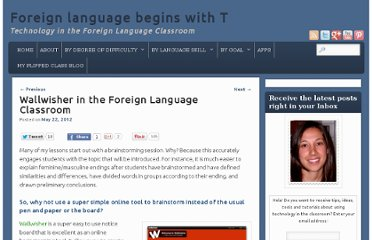 http://spanish4teachers.org/techblog/wallwisher-in-the-foreign-language-classroom/