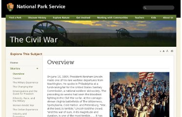 http://www.nps.gov/civilwar/overview.htm