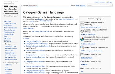 http://en.wiktionary.org/wiki/Category:German_language