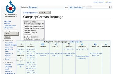 http://commons.wikimedia.org/wiki/Category:German_language