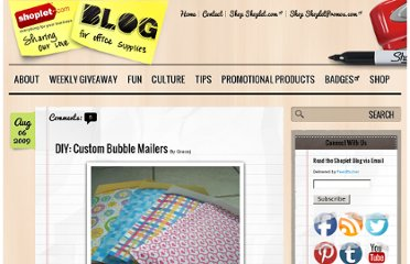 http://blog.shoplet.com/office-supplies/diy-custom-bubble-mailers/