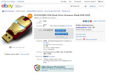 http://www.ebay.com/itm/AVENGERS-USB-Flash-Drive-Ironman-Mask-8GB-NEW-/270967182404