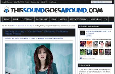 http://www.thissoundgoesaround.com/2012/03/lindsey-stirling-crystallize-dubstep-violionist-music-video/