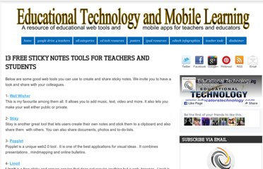 http://www.educatorstechnology.com/2012/05/13-free-sticky-notes-tools-for-teachers.html