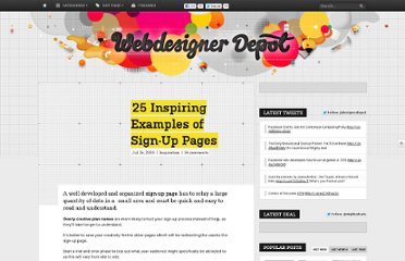 http://www.webdesignerdepot.com/2009/07/25-inspiring-examples-of-sign-up-pages/