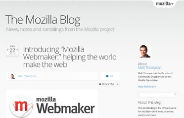 http://blog.mozilla.org/blog/2012/05/22/introducing-mozilla-webmaker/