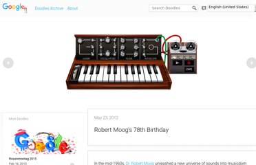 http://www.google.com/doodles/robert-moogs-78th-birthday