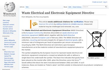 http://en.wikipedia.org/wiki/Waste_Electrical_and_Electronic_Equipment_Directive