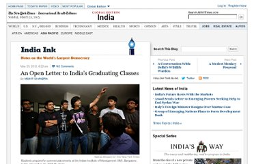 http://india.blogs.nytimes.com/2012/05/23/an-open-letter-to-indias-graduating-classes/