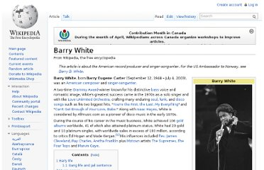 http://en.wikipedia.org/wiki/Barry_White